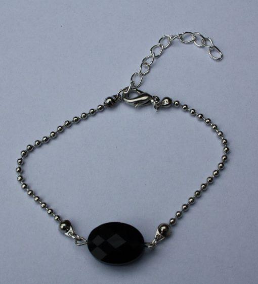 armbandje steen zwart