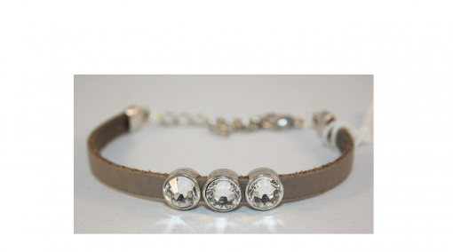 drie schuiver armband taupe