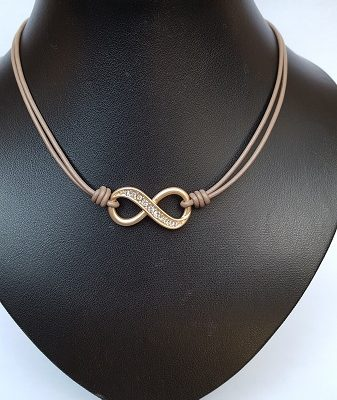 Ketting infinity taupe