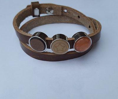 cuoio armband bruin