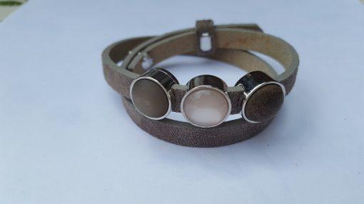 cuoio armband licht bruin