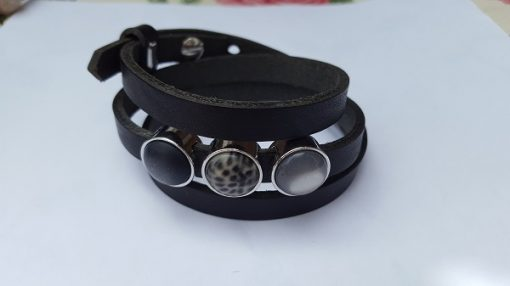 Cuoio armband zwart