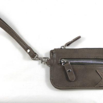 klein bruin ster portemonneetje