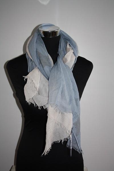 Blauw-beige sterren sjaal