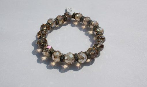 Bruine kristal armband