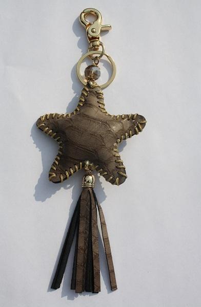 bruine ster sleutelhanger