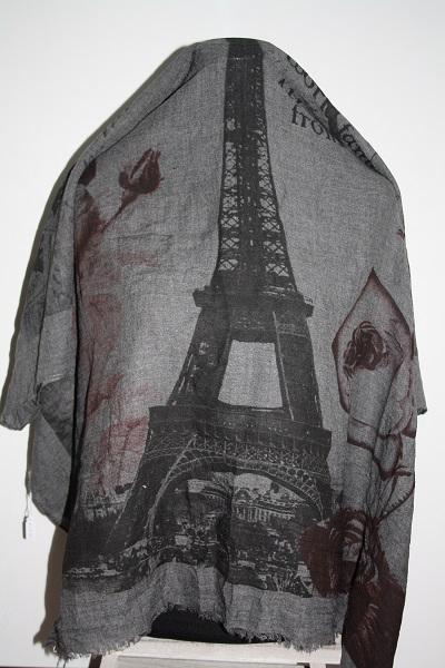 Grijze Parijs sjaal foto 2
