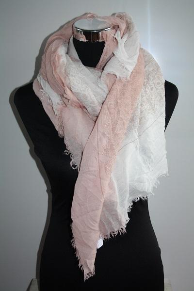 Roze sjaal met print