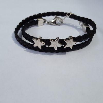 zwarte wikkelarmband sterren