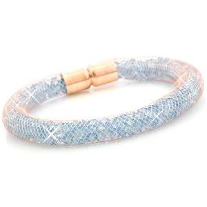 kristal facet armband – aqua rose