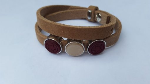cuoio armband bruin rood