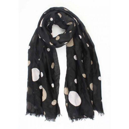 sjaal feest dots zwart