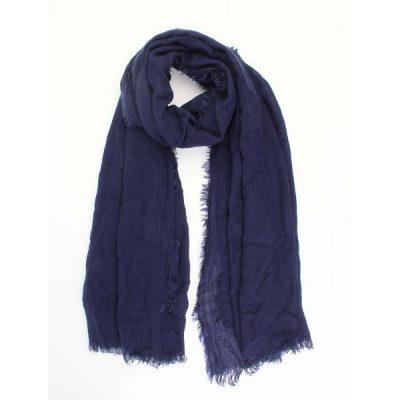 sjaal rafels blauw