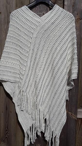 wit grijze poncho