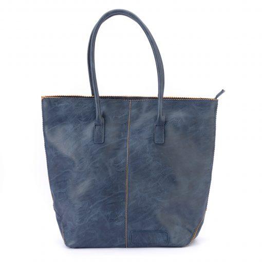zebra bag met rits - blauw