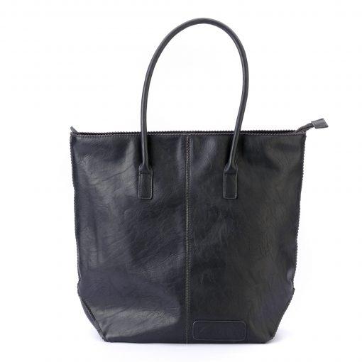zebra bag met rits - zwart