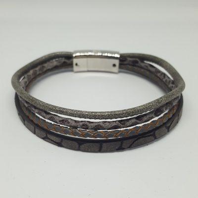 Grijze armband XL