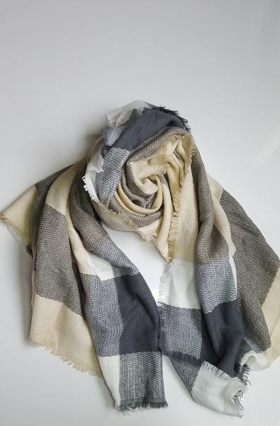 sjaal beige-grijs