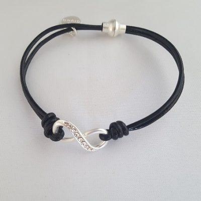 infinity armband zwart