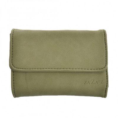 Zaza'z groene kleine portemonnee met klep