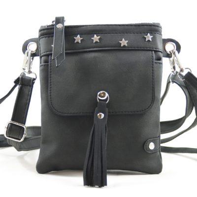 zwart heup-schoudertasje