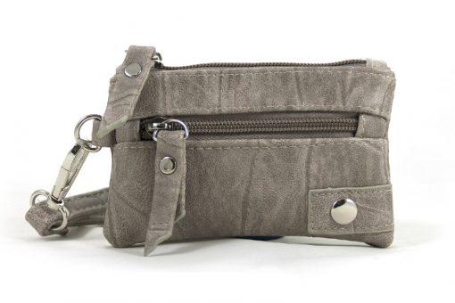 klein licht grijze portemonnee