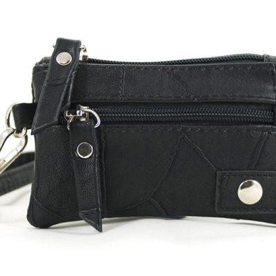 klein zwart portemonneetje