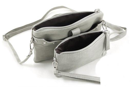 grijs insteek tasje binnenkant