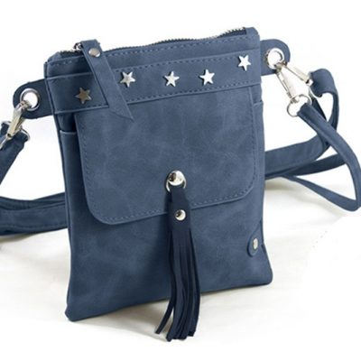 blauw heup-schoudertasje