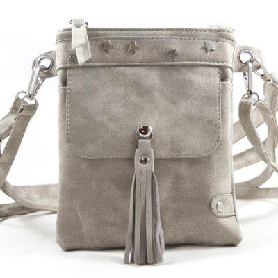 Licht grijs heup-schoudertasje