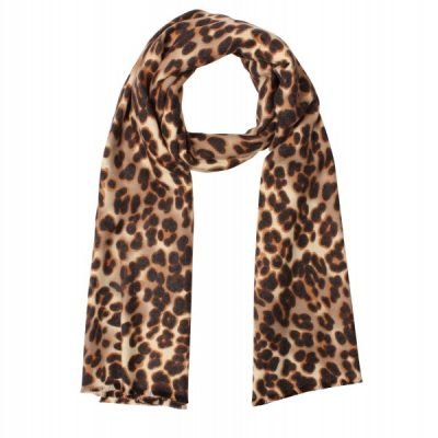 Sjaal leopard khaki