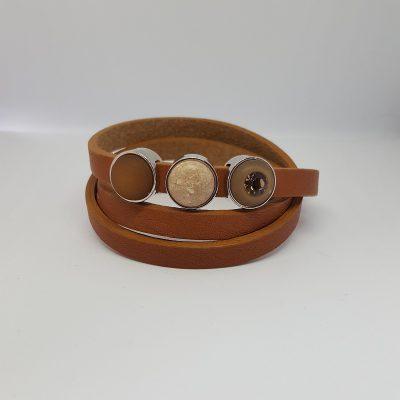 Cuoio armband cognac-bruin