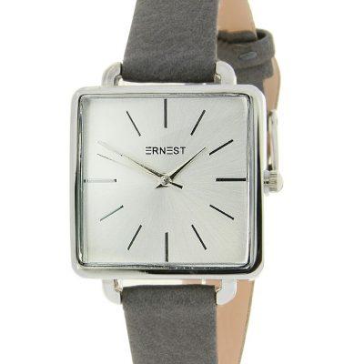 Horloge vierkant donkergrijs