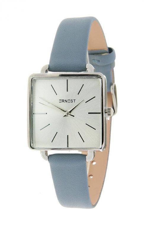 horloge vierkant jeansblauw