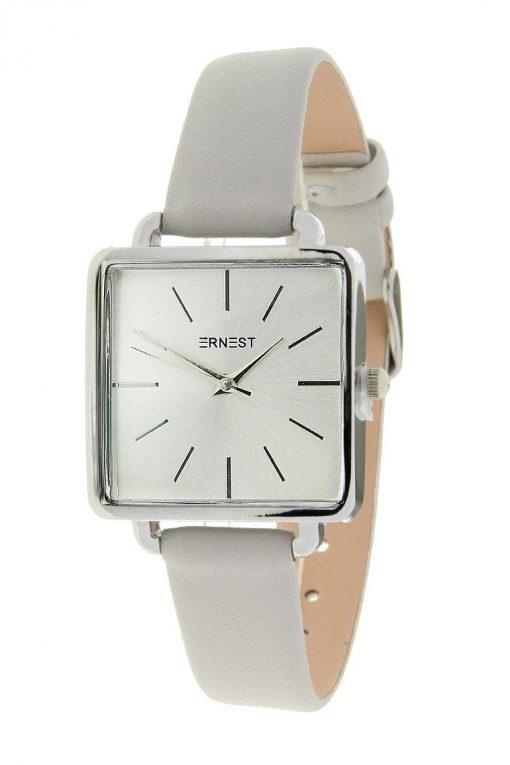 horloge vierkant licht grijs