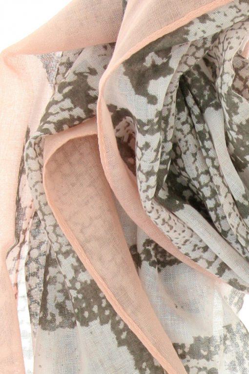 sjaal snake lichtroze