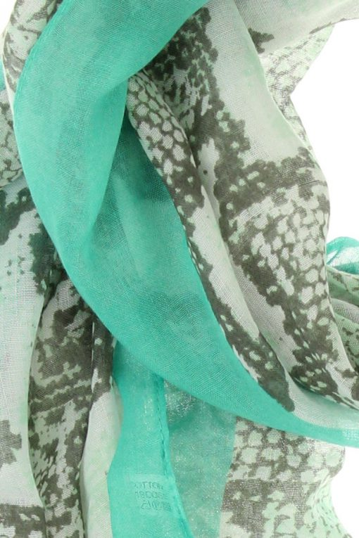 sjaal snake mint 2