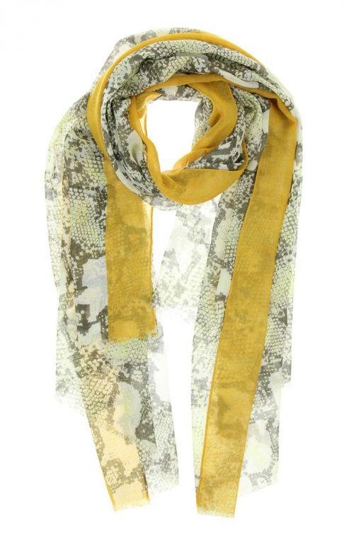 sjaal snake mostard