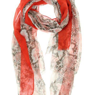 sjaal snake rood