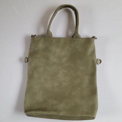Tas met grote flap groen